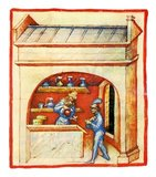The Tacuinum (sometimes Taccuinum) Sanitatis is a medieval handbook on health and wellbeing, based on the Taqwim al‑sihha تقويم الصحة ('Maintenance of Health'), an eleventh-century Arab medical treatise by Ibn Butlan of Baghdad.<br/><br/>  Ibn Butlân was a Christian physician born in Baghdad and who died in 1068. He sets forth the six elements necessary to maintain daily health: food and drink, air and the environment, activity and rest, sleep and wakefulness, secretions and excretions of humours, changes or states of mind (happiness, anger, shame, etc). According to Ibn Butlân, illnesses are the result of changes in the balance of some of these elements, therefore he recommended a life in harmony with nature in order to maintain or recover one's health.<br/><br/>  Ibn Butlân also teaches us to enjoy each season of the year, the consequences of each type of climate, wind and snow. He points out the importance of spiritual wellbeing and mentions, for example, the benefits of listening to music, dancing or having a pleasant conversation.<br/><br/>  Aimed at a cultured lay audience, the text exists in several variant Latin versions, the manuscripts of which are characteristically profusely illustrated. The short paragraphs of the treatise were freely translated into Latin in mid-thirteenth-century Palermo or Naples, continuing an Italo-Norman tradition as one of the prime sites for peaceable inter-cultural contact between the Islamic and European worlds.<br/><br/>  Four handsomely illustrated complete late fourteenth-century manuscripts of the Taccuinum, all produced in Lombardy, survive, in Vienna, Paris, Liège and Rome, as well as scattered illustrations from others, as well as fifteenth-century codices.